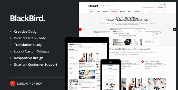 BlackBird | Responsive Multi-Purpose Theme • Download theme ➝…