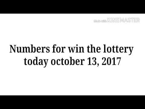 Numbers for win the lottery today October 13, 2017 - http://LIFEWAYSVILLAGE.COM/lottery-lotto/numbers-for-win-the-lottery-today-october-13-2017/