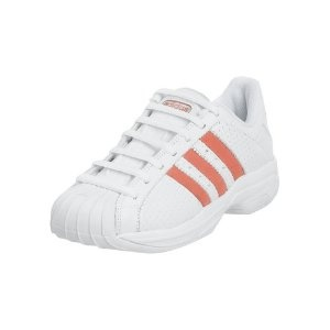 adidas Women\u0027s Superstar 2G Perf Basketball Shoe, White/Miami Red, 6.5 M (