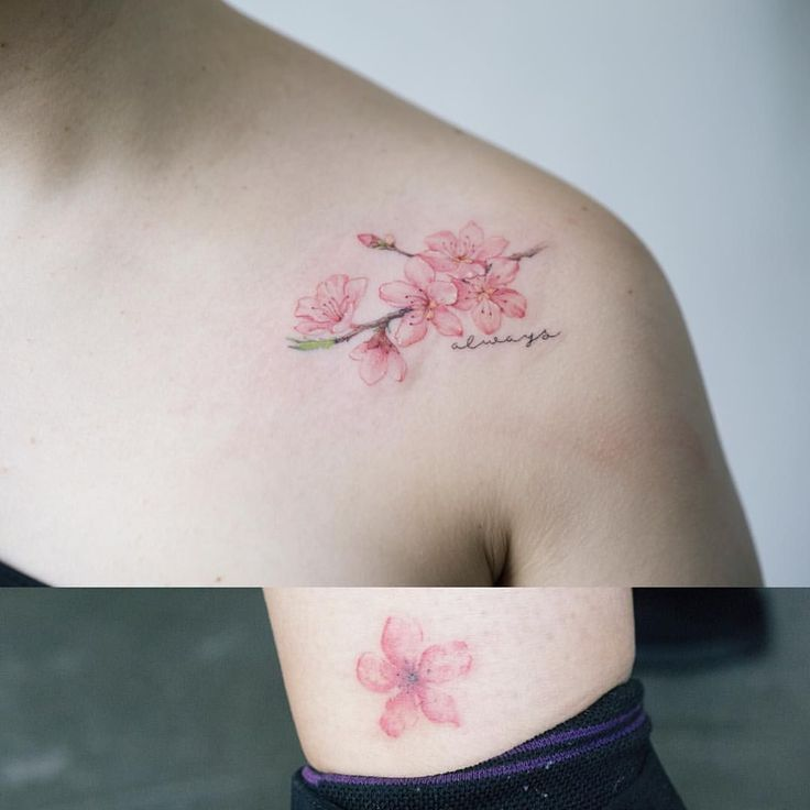 Image result for most feminine cherry blossom tattoos