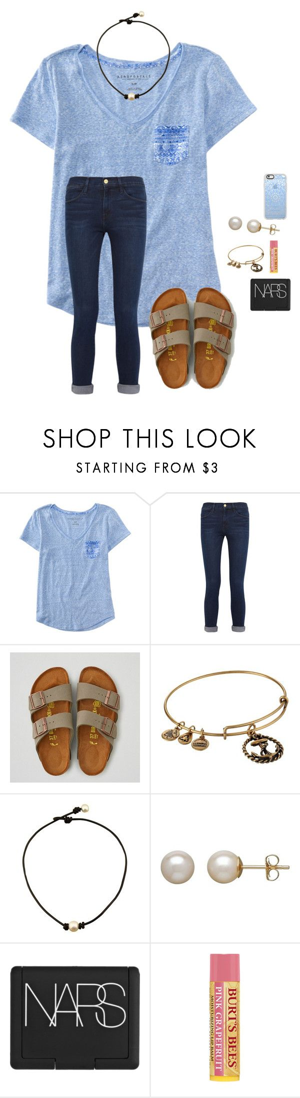 """School starts in a week from today"" by xclover5 ❤ liked on Polyvore featuring Aéropostale, Frame, American Eagle Outfitters, Alex and Ani, Honora, NARS Cosmetics and Casetify"