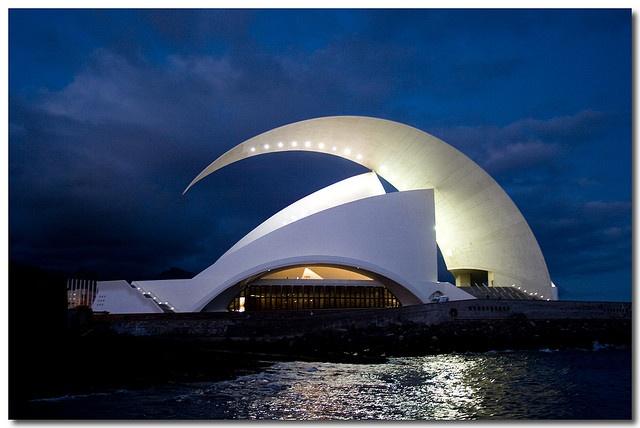 Tenerife Concert Hall in the Canary Islands; designed by Santiago Calatrava