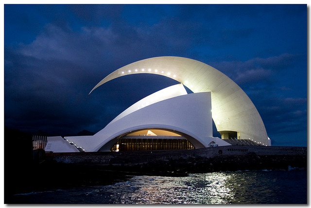 Tenerife Concert Hall in the Canary Islands; designed by Santiago Calatrava