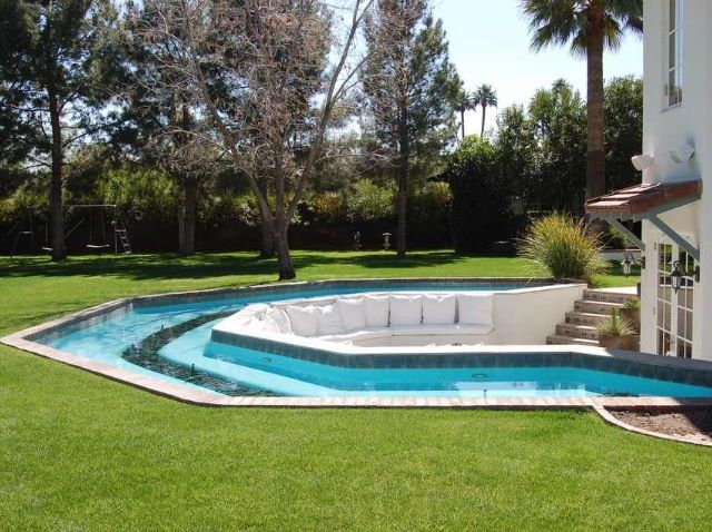 Lazy River Swimming Pool Designs lazy river swimming pool surface installation Backyard Lazy River