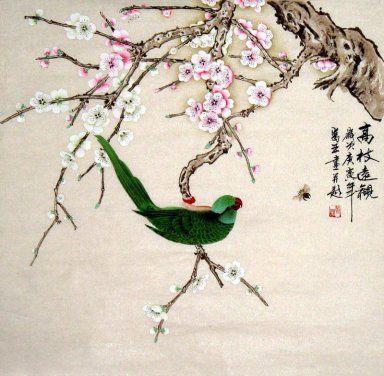 Magpie-Pole afstand - Chinees schilderij
