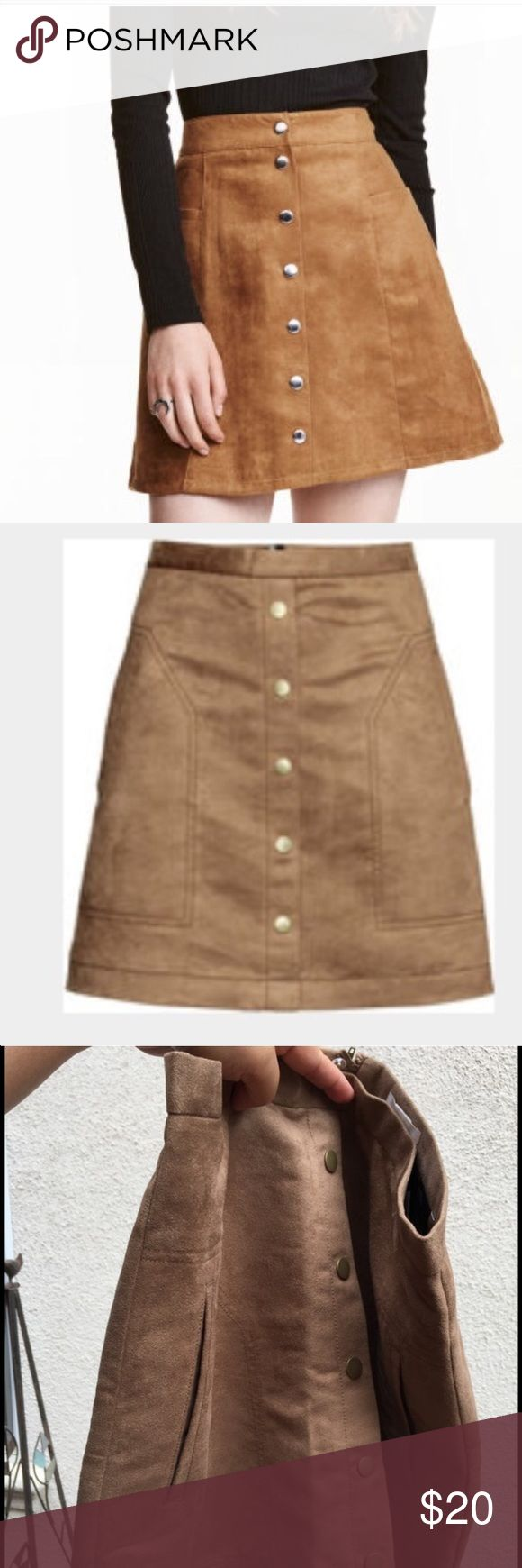 Light brown suede skirt Light brown suede skirt H&M Skirts