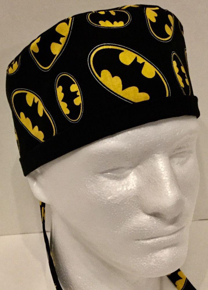 b2b0f2141aaea Batman Large Surgeons Medical Surgery OR Scrub Hat Skull Cap  Handmade