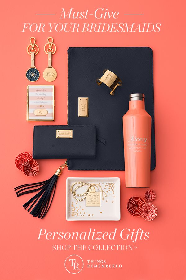 "Finding the perfect gifts for your bridesmaids doesn't have to be difficult. A personalized gift will show just how thankful you are to have them by your side. Get more ideas for your ""I Do"" crew at Things Remembered."