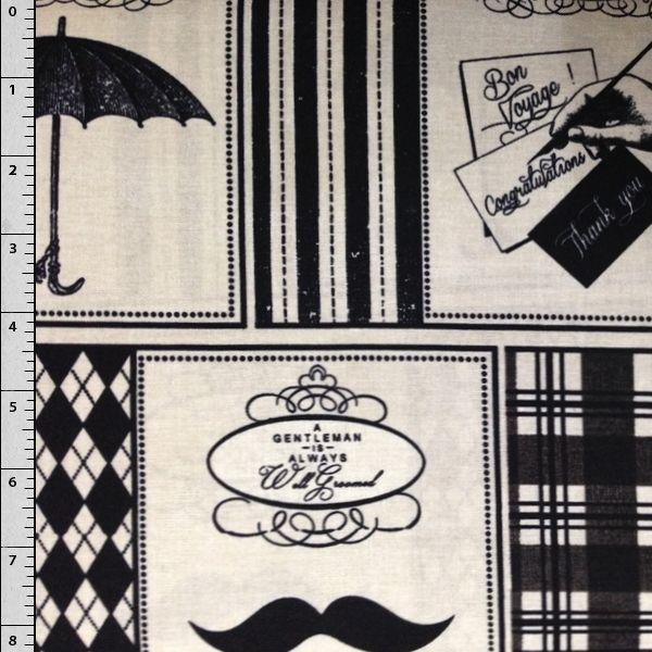 "Cali Fabrics - ""Gentleman"" by Wild Apple, $7.49 (http://www.califabrics.com/gentleman-by-wild-apple/)"