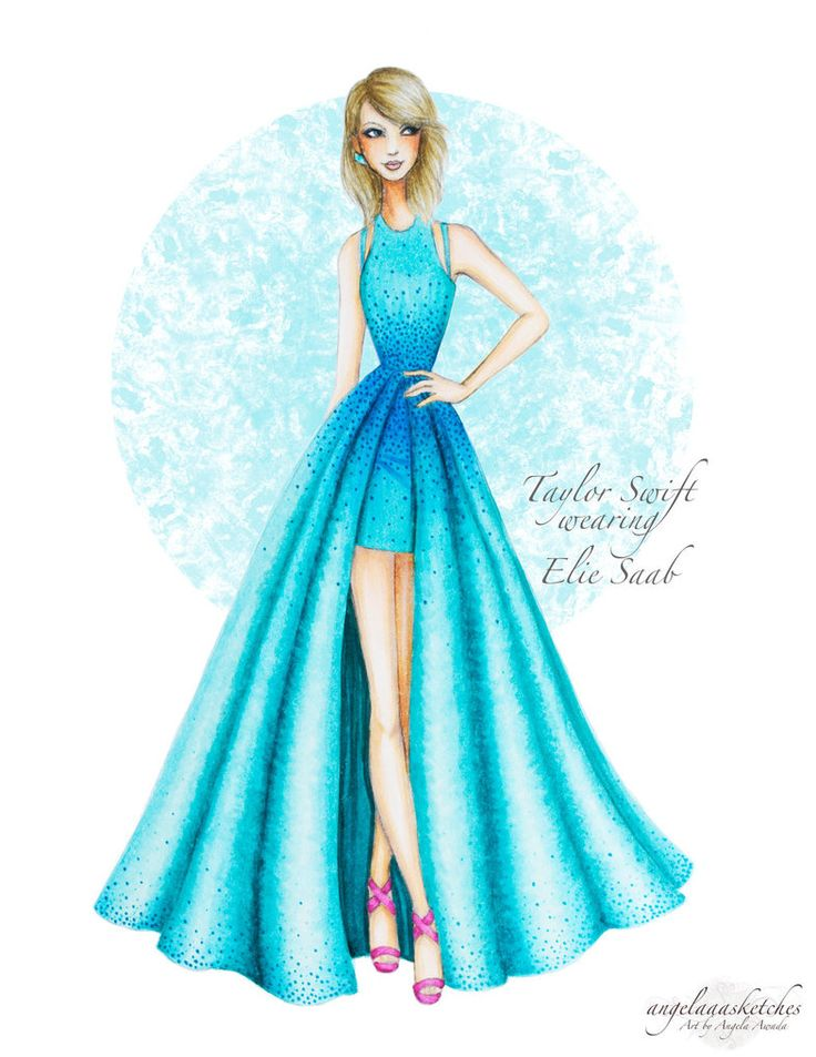 Fashionable dresses pics drawings