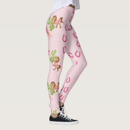 Cute Little Cowgirl and Pony Leggings - pattern sample design template diy cyo customize