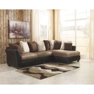 Signature Design by Ashley Masoli 2-Piece Mocha Corner Chaise and Sofa Sectional