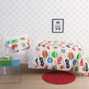Bam Pow Zap Duvet Cover Set by Squiggles