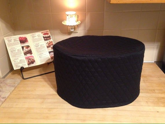 Black Oval Crock Pot Covers Dust Covers Made To Order Appliance Covers Cozy Kitchen Small Appliances
