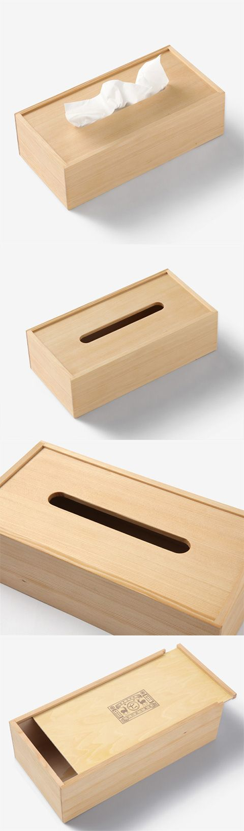 【木のティッシュボックス(中川政七商店)】/木工産業が盛んな静岡の木工所でオリジナルのティッシュボックスを作りました。 木肌を活かしたオイル仕上げで使い込むほどにツヤと風合いが楽しめます。 底板はスライド式で、一般的な標準サイズの箱入りティッシュに対応しております。