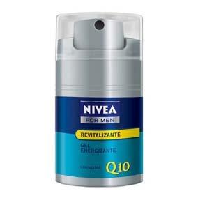 Nivea Nfm Gel Q10 Revitalizante 50Ml Su ligera fórmula en gel contiene coenzima Q10, componente natural de la propia piel que recarga de energía sus células. Los extractos de menta refrescan la piel y despiertan los sentidos.