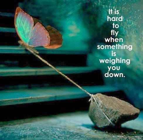 Hard to fly when something is holding you back