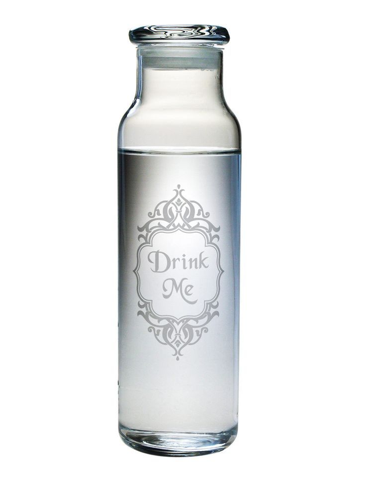 We all need to drink more water and this cleverly designed Drink Me Water Bottle with a Lid is a great way to stylishly carry your water around with you throughout the day.