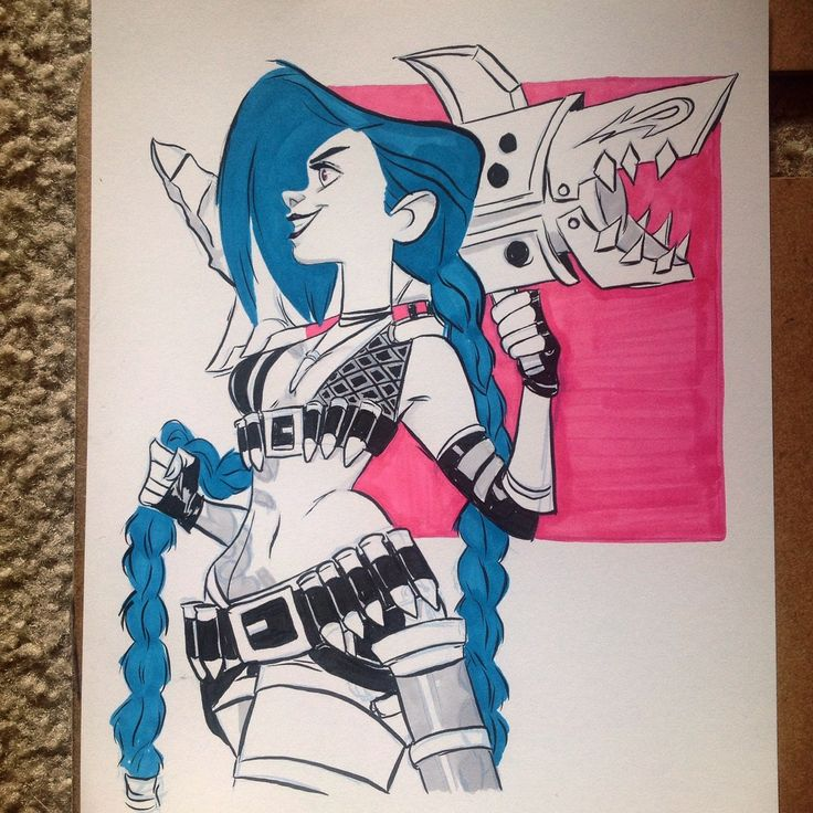 Jinx from League of Legends for day 13 of Inktober