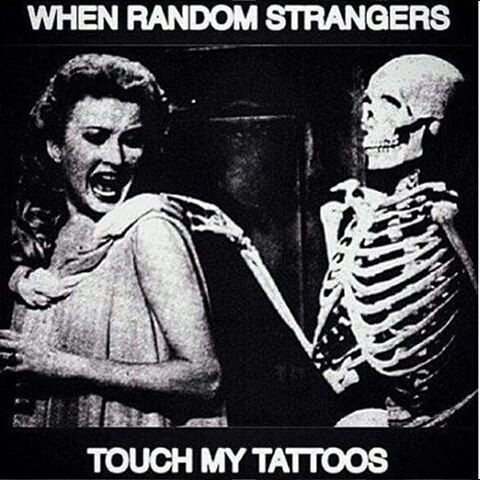 We all know how that is! ;-P  #hilarious #strangerdanger #donttouchme #tattoo #ink #vitalitreetattoo @vitalitreetattoo
