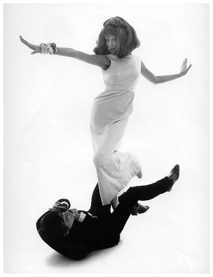Veruschka Von Lehndorff and David Bailey, photo by Bert Stern, Vogue,1961.