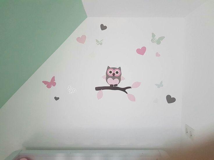 Kinderkamer Behang Vogelhuisjes : Besten decoratie kinderkamer en babykamer bilder auf