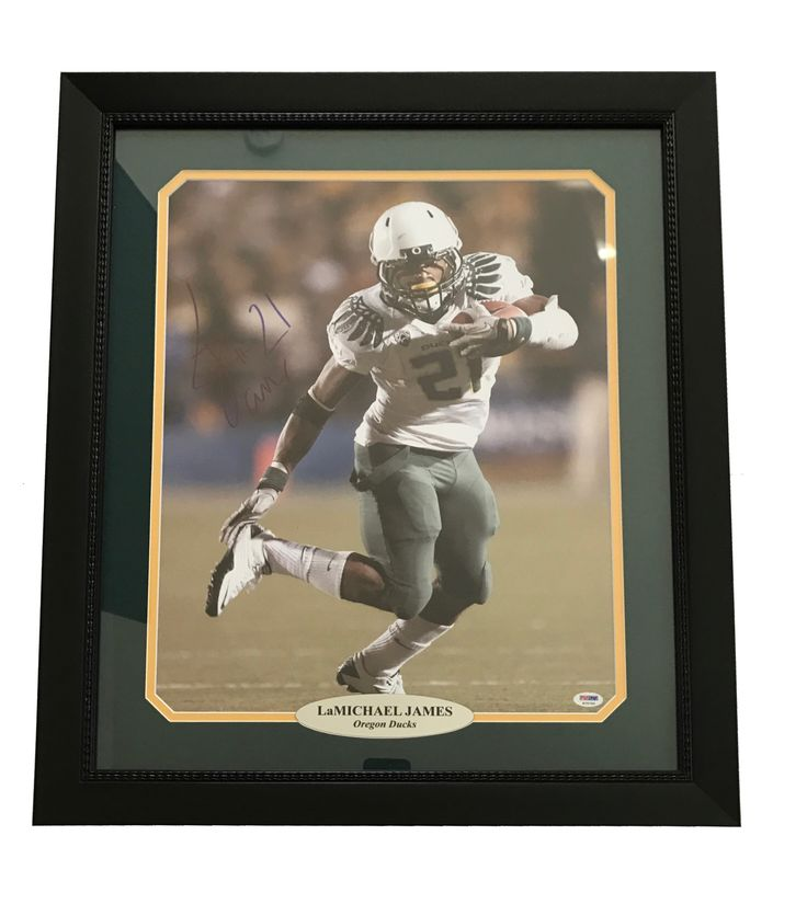 LAMICHAEL JAMES SIGNED OREGON DUCKS 16X20 FRAMED PHOTO AUTOGRAPH COA PSA/DNA