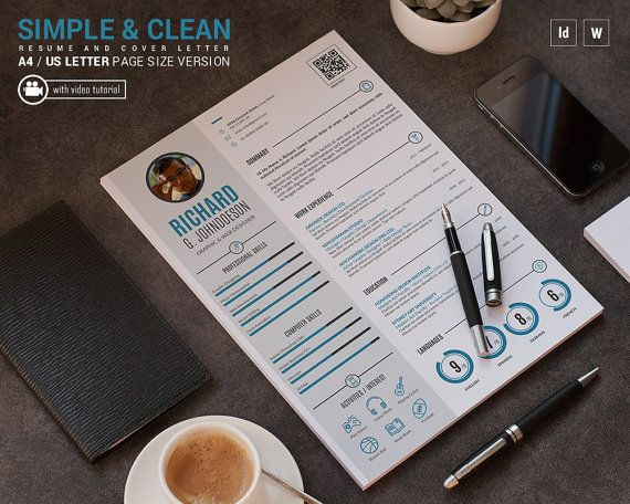 102 best images about unique and clean resume template on pinterest