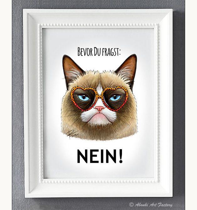 15 besten kunstkatzen bilder auf pinterest dawanda com katzen und kunstdruck. Black Bedroom Furniture Sets. Home Design Ideas