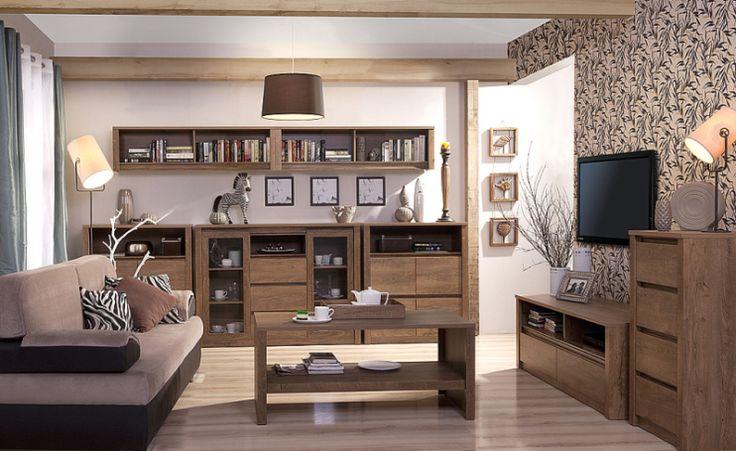 Pokój dzienny MONTI, dąb lefkas  Kolekcja Monti to inspiracja zarówno dla…