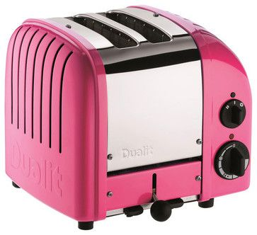 pink toaster!  Dualit 2-Slice Classic Bread Toaster, Chilly Pink contemporary toasters