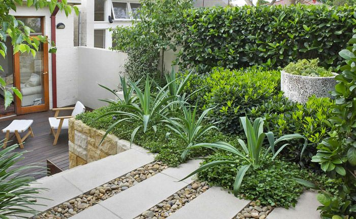 Grand Garden Design Sydney | GOOD MANORS Love the pebbles between the pavers