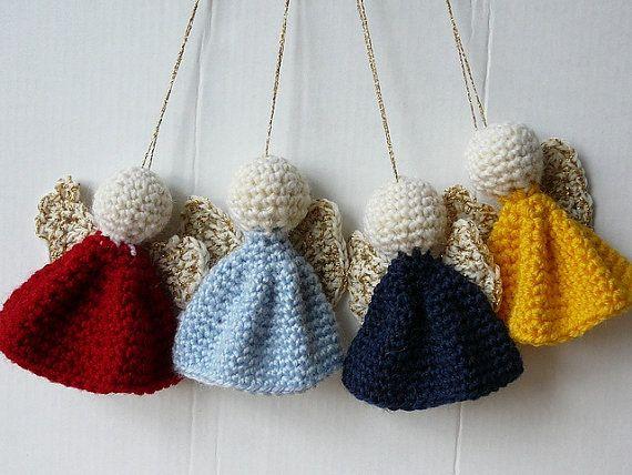 Ángel de crochet por KatherineParfrement en Etsy