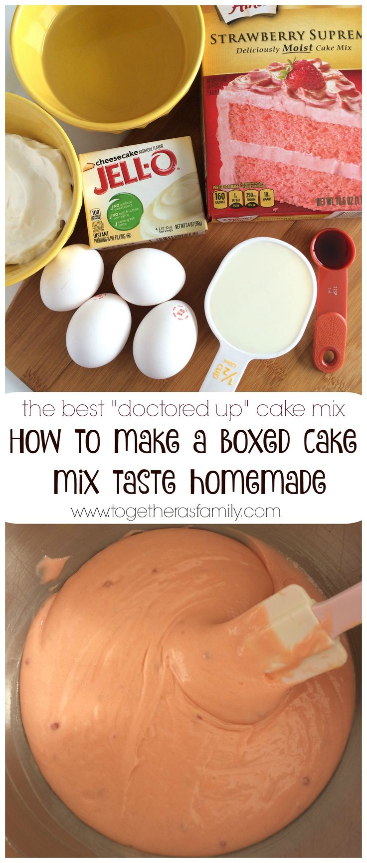 HOW TO MAKE A BOXED CAKE MIX TASTE HOMEMADE  doctored up  cake mix & Best 25+ Box cake mixes ideas on Pinterest | Making a cake Box ... Aboutintivar.Com