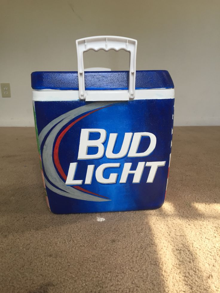 Bud light painted cooler