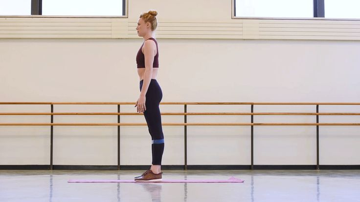 NYCB's Sara Mearns demonstrates a glutes-focused exercise developed by fellow principal dancer, Joaquín De Luz.