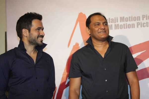 Emraan With Mohammad Azharuddin At Film Azhar http://www.myfirstshow.com/gallery/events/view/15293/.html