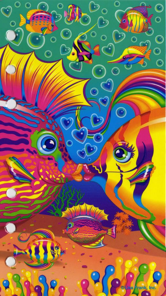 Lisa Frank - hugely popular brand amongst girls in the 80's & 90's. I had a pretty big assortment of Lisa Frank school supplies and stickers as a kid :-)