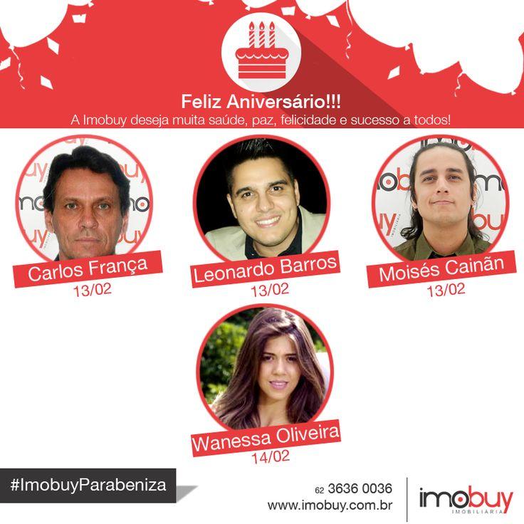 Bom dia! A Imobuy deseja aos aniversariantes desta semana uma vida repleta de felicidades e sucessos. Queremos comemorar com vocês não só esta data, mas todas as suas conquistas e vitórias. Parabéns e um feliz aniversário a todos!! #imobuyParabeniza