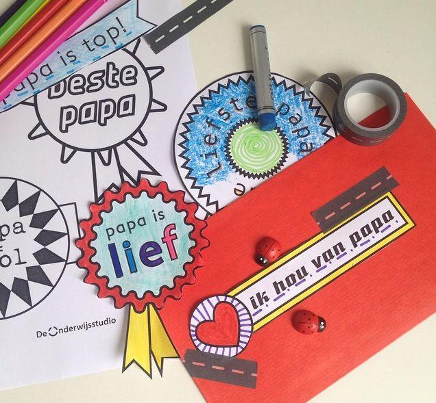 Download gratis Vaderdag sjablonen - http://onderwijsstudio.nl/