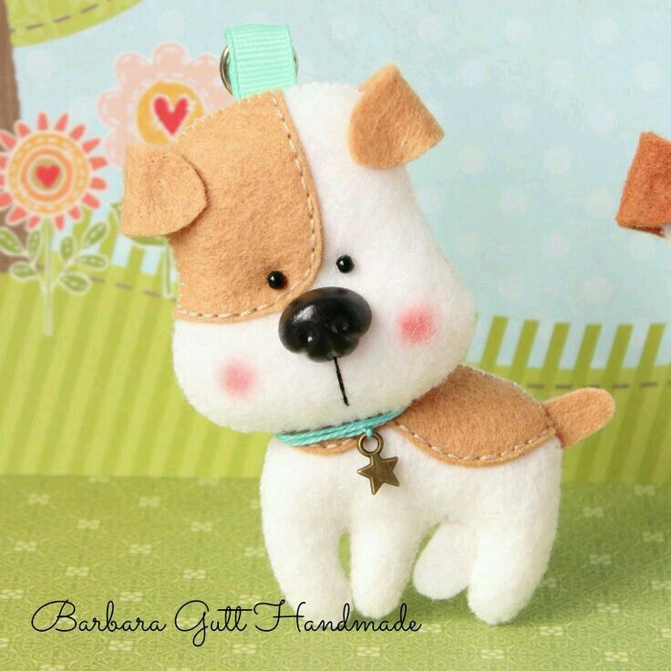 Perrito fieltro, felt puppy