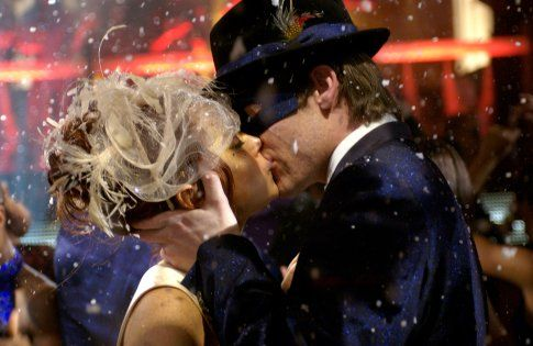 """I absolutely love the idea of a masquerade ball when it is pulled off well. This is a still of Lindsay Lohan & Chris Pine from the movie """"Just My Luck."""""""
