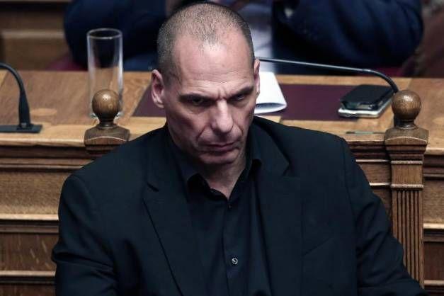 Le ministre grec des Finances Yanis Varoufakis s'adresse aux députés grecs, le 5 juin à Athènes