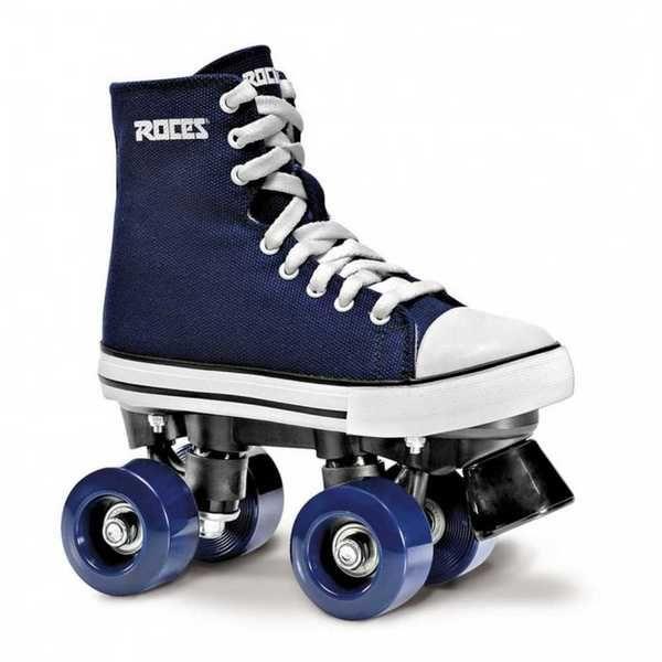 Roces Unisex Chuck Classic Roller Skates, Blue/White Canvas. 550030-00001-UK6