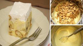 V dnešním článku vám ukážeme recept na fantastické banánové řezy pro jejichž přípravu vám bude stačit pouhých 15 minut. I přes svou velmi jednoduchou přípravou, nejsou nijak ochuzeni – chutnají naprosto fantasticky! Báječnáchuť a snadná příprava! Co víc si přát? Snad jen ať už leží hotové na stole! Ingredience – 300 g maslových sušenek –