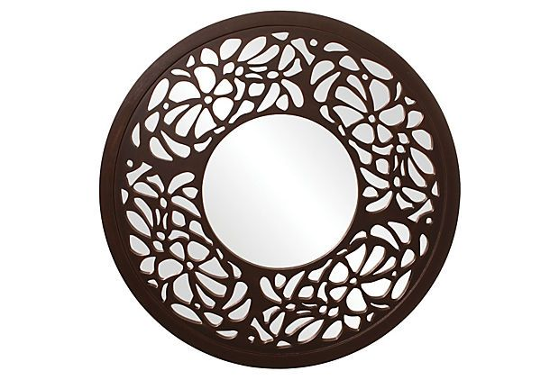 """Silhouette Mirror on OneKingsLane.com  36""""w x 36""""h x 1""""d   I thought this would be a fun project with mirrored stickers on a Hobby Lobby discount mirror. Or, get a mirror and contact paper.  Size the contact paper, use a sharp blade to cut out your design, peel and stick,  use a credit card to smooth out the bubbles after you have put a tiny pin hole in the bubble.  Cost...less than $35.00"""