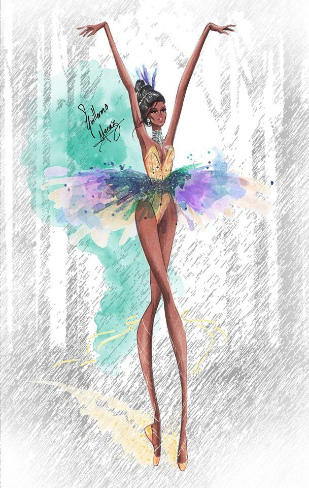 Disney Princesses Ballet Classics: Pocahontas by Guillermo Meraz Fashion Illustration
