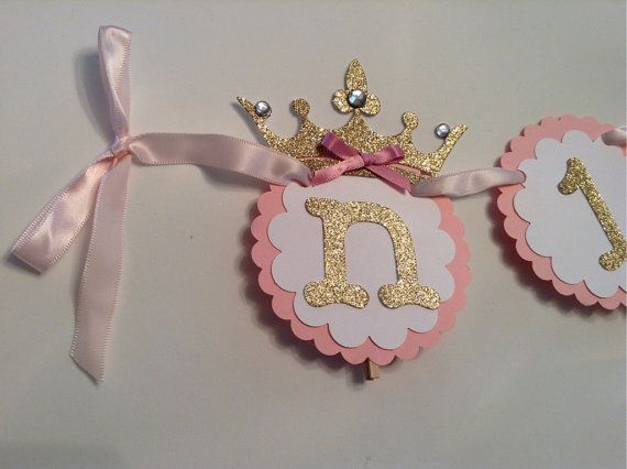 12 month photo banner princess theme newborn to one year pink and gold birthday picture banner
