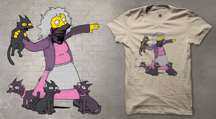 My new design is for voting on Qwertee : Limited Edition Cheap Daily T Shirts | Gone in 24 Hours | T-shirt Only £9/€11/$12 | Cool Graphic Funny Tee Shirts    #tshirt #simpsons #banksy #graffiti #eleanor #crazycatlady