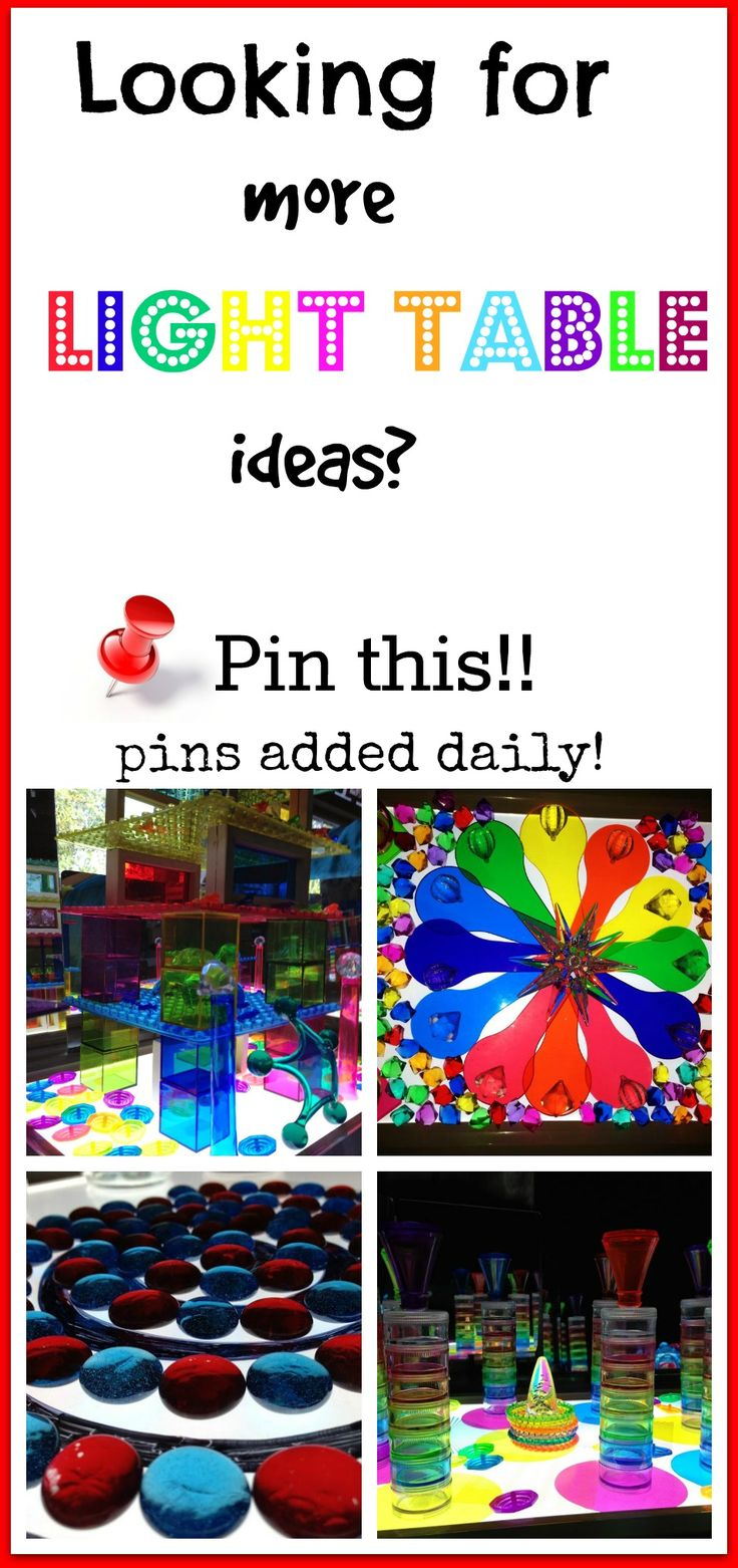 Find tons of amazing light table and light play pins here!!!
